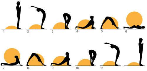 Surya Namaskar All Poses