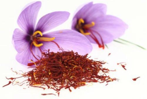saffron with flower