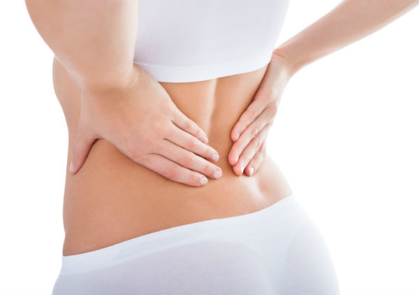 woman low back pain